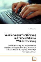 Validierungsunterstützung in Frameworks zur Webentwicklung (eBook, PDF)