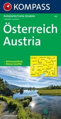 Kompass Karte Österreich; Austria; Autriche