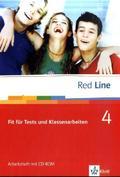 Red Line: Klasse 8, Fit für Tests und Klassenarbeiten, Arbeitsheft m. CD-ROM; Bd.4