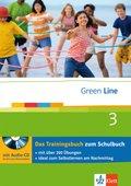 Green Line, Neue Ausgabe für Gymnasien: Klasse 7, Das Trainingsbuch m. Audio-CD; Bd.3