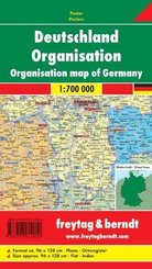 Freytag & Berndt Poster Deutschland, Organisation, ohne Metallstäbe; Organisation map of Germany