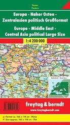 Freytag & Berndt Poster Europa politisch, Naher Osten, Zentralasien, Großformat