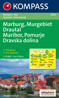 Kompass Karte Marburg, Murgebiet, Drautal; Maribor, Pomurje, Dravska dolina
