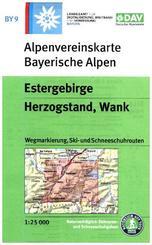 Alpenvereinskarte Estergebirge, Herzogstand, Wank