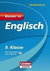 Besser in Englisch, Gymnasium; 9. Klasse, m. Audio-CD u. Lösungsheft