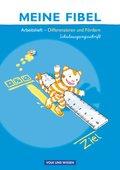 Meine Fibel, Neubearbeitung 2009: Differenzieren und Fördern, Arbeitsheft in Schulausgangsschrift