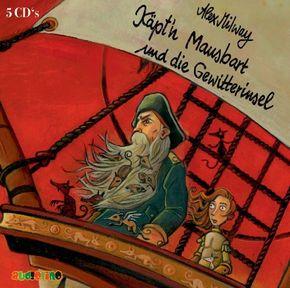 Käpt'n Mausbart und die Gewitterinsel, 5 Audio-CDs