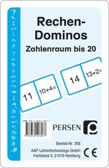 Rechen-Dominos: Zahlenraum bis 20 (Kartenspiel)