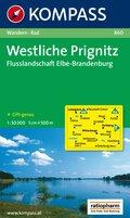 Kompass Karte Westliche Prignitz, Flusslandschaft Elbe-Brandenburg