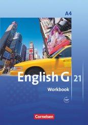 English G 21, Ausgabe A: 8. Schuljahr, Workbook mit Audios online; Bd.4