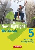 New Highlight, Hauptschule: 9. Schuljahr, Workbook; Bd.5