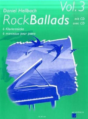 Rock Ballads, m. Audio-CD, für Klavier - Vol.3