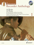 Baroque Recorder Anthology, für Sopranblockflöte und Klavier (Gitarre ad lib.), m. Audio-CD