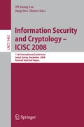 Information Security and Cryptoloy - ICISC 2008
