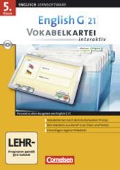 English G 21 (Lernsoftware): 5. Klasse, Vokabelkartei interaktiv, CD-ROM