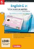 English G 21 (Lernsoftware): 6. Klasse, Vokabelkartei interaktiv, CD-ROM