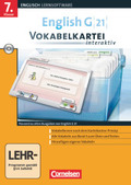 English G 21 (Lernsoftware): 7. Klasse, Vokabelkartei interaktiv, CD-ROM