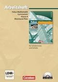 Fokus Mathematik, Gymnasium Rheinland-Pfalz: 8. Schuljahr, Arbeitsheft m. CD-ROM