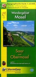 Topographische Karte Rheinland-Pfalz Wandergebiet Mosel, Saar und Obermosel