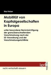 Mobilität von Kapitalgesellschaften in Europa