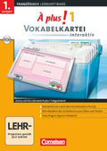 À plus!: Vokabelkartei interaktiv, 1 CD-ROM; Bd.1