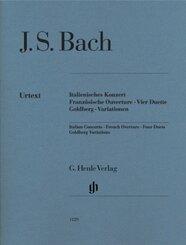 Italienisches Konzert BWV 971, Französische Ouvertüre BWV 831, Vier Duette BWV 802-805, Goldberg-Variationen BWV 988, Kl