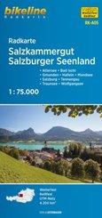 Bikeline Radkarte Salzkammergut, Salzburger Seenland