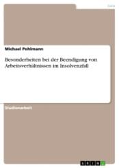 Besonderheiten bei der Beendigung von Arbeitsverhältnissen im Insolvenzfall; Band 22 (III, Band 9