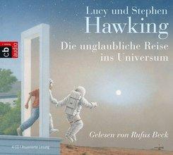 Die unglaubliche Reise ins Universum, 4 Audio-CDs