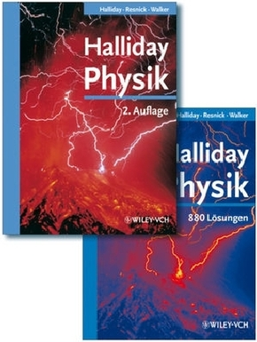 Halliday Physik deLuxe - Lehrbuch + Lösungsbuch (2 Bücher)