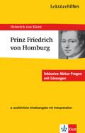 Lektürehilfen Heinrich von Kleist 'Prinz Friedrich von Homburg'
