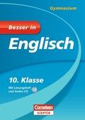 Besser in Englisch, Gymnasium: 10. Klasse, m. Audio-CD