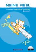 Meine Fibel, Neubearbeitung 2009: Differenzieren und Fördern, Arbeitsheft in Druckschrift, m. CD-ROM