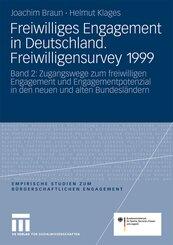 Freiwilliges Engagement in Deutschland.Freiwilligensurvey 1999