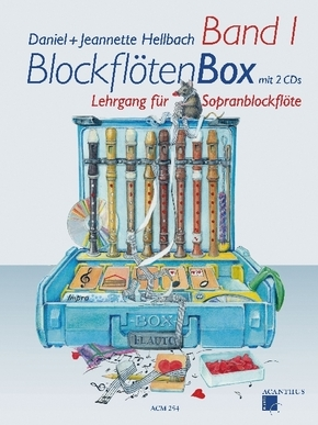BlockflötenBox, m. 2 Audio-CDs - Bd.1