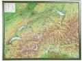 Schweiz, Reliefkarte, Groß, m. Holzrahmen - Switzerland