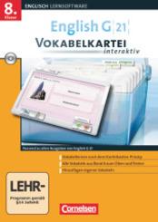 English G 21 (Lernsoftware): 8. Klasse, Vokabelkartei interaktiv, CD-ROM