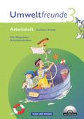 Umweltfreunde, Ausgabe Sachsen-Anhalt (Neubearbeitung 2009): 3. Schuljahr, Arbeitsheft m. CD-ROM