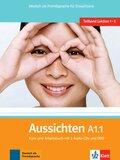 Aussichten: Kurs- und Arbeitsbuch, m. 2 Audio-CDs u. 1 DVD; Bd.A1.1