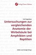 Untersuchungen zur vergleichenden Anatomie der Wirbelsäule bei Amphibien und Reptilien