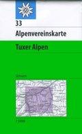 Alpenvereinskarte Tuxer Alpen, Skirouten