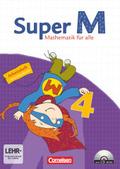 Super M - Mathematik für alle, Ausgabe Östliche Bundesländer und Berlin: 4. Schuljahr, Arbeitsheft m. CD-ROM