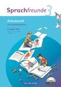 Sprachfreunde, Ausgabe Süd (2010): 3. Schuljahr, Arbeitsheft m. CD-ROM