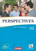 Perspectives, Neue Ausgabe: Kurs- und Arbeitsbuch, m. 2 Audio-CDs u. Wortschatztrainer; Bd.A2