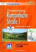 Hikeline Wanderführer Fernwanderweg Romantische Straße - Tl.1