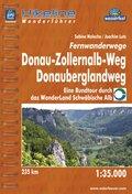 Hikeline Wanderführer Fernwanderwege Donau-Zollernalb-Weg, Donauberglandweg