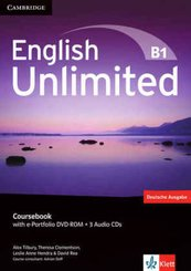 English Unlimited B1: Course Book (Deutsche Ausgabe), w. e-Portfolio DVD-ROM and 3 Audio-CDs