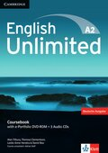 English Unlimited A2: Coursebook, w. e-portfolio DVD-ROM and 3 Audio-CDs