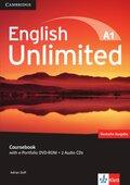 English Unlimited A1: Coursebook, w. e-portfolio DVD-ROM and 2 Audio-CDs