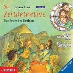 Die Zeitdetektive - Das Feuer des Druiden, 1 Audio-CD